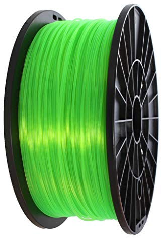 3D filament 1,75 mm TPU rubber gummi transparent 800g 1.75mm 3D Druck (transparent grün)
