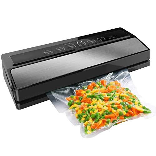 ZHHB Vakuumierer, Automatische Lebensmittel Sealer Maschine, Vakuumversiegelungssystem Für Lebensmittelkonservierung Trockene Und Feuchte Nahrungsmittelarten, Für Haus Und Gewerbliche Nutzung