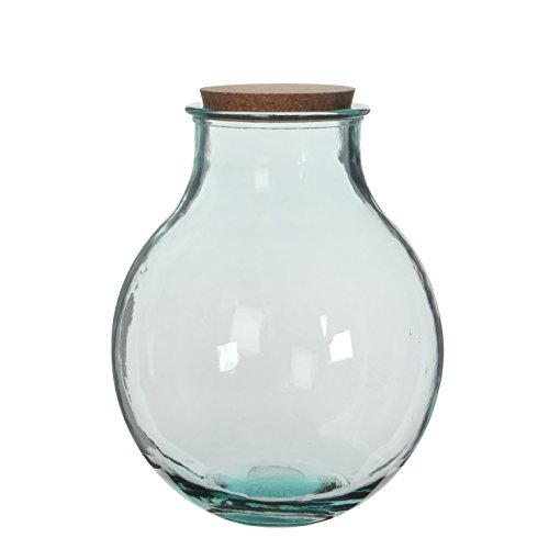MICA Decorations Olly Vase, Glas, transparent, 29 x 29 x 38 cm
