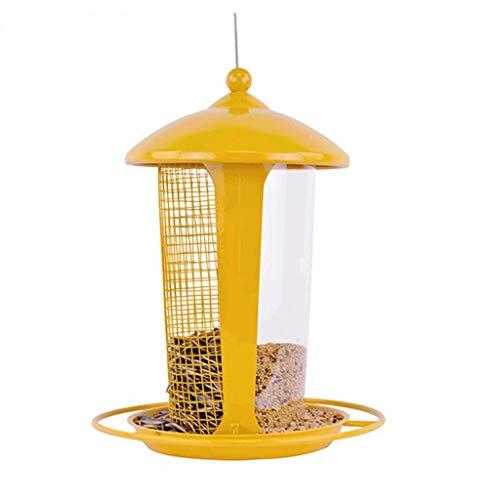 Futterstationszubehör Papageien-Vogel-Nahrungsmittelbehälter-Garten-Hof-Balkon-Metallfarbe-hängender Vogel-Nahrungsmittelkasten im Freien Tiernahrungsspender