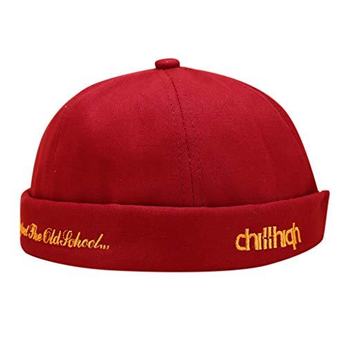 ZWXIN Mechanic Brimless Hat Rolled Cuff Harbor Mütze, Beanie Cord, Casual Docker Sailor Cap mit Volltonfarbe für Frauen Männer