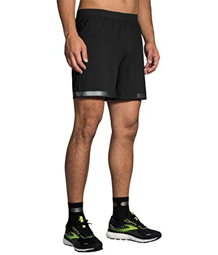 Brooks Men's Carbonite 7' 2-in-1 Short, Black, LG 7