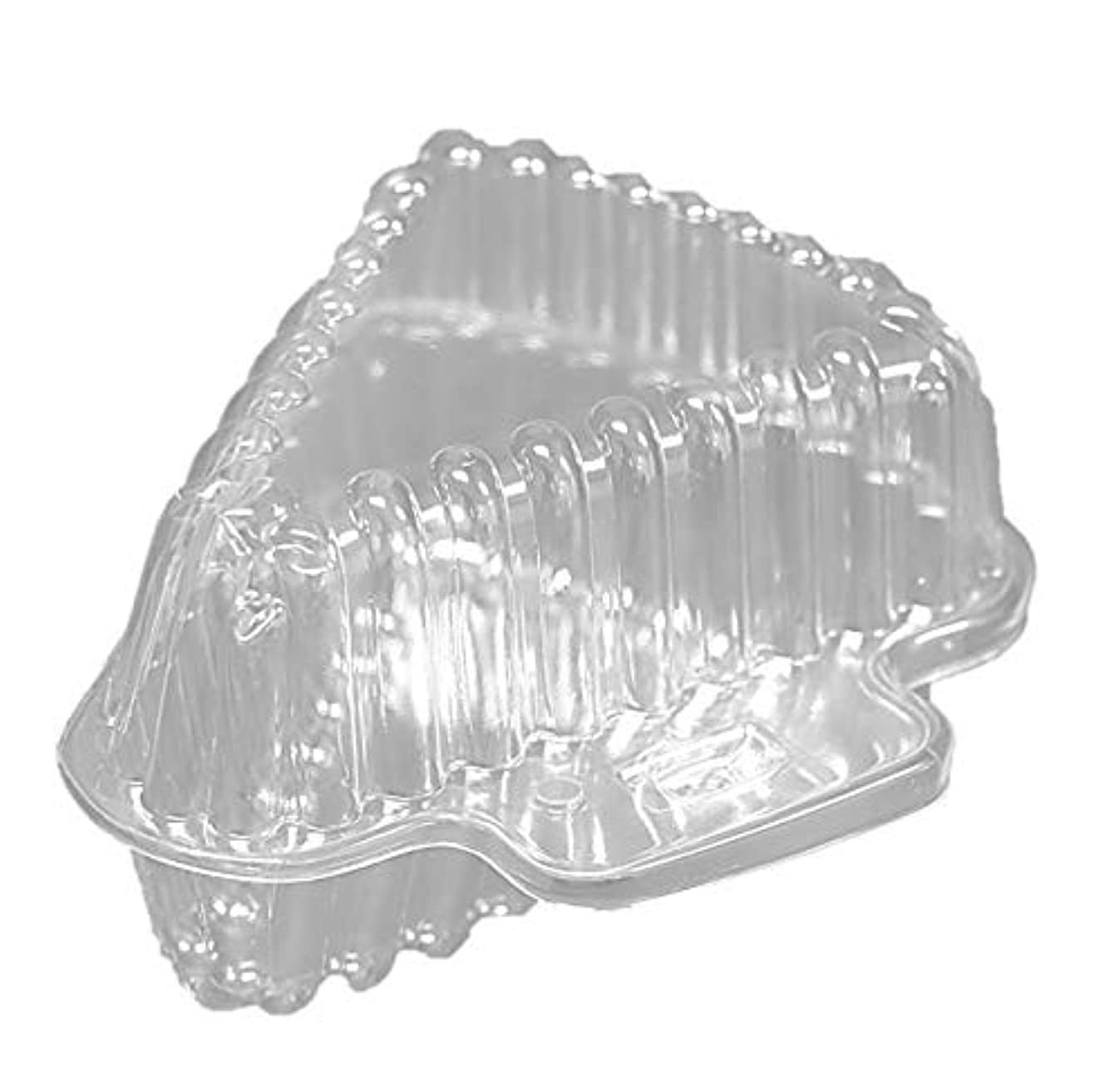25 Clear Plastic Pie Cheesecake Hinged Holders Disposable Wedge Cake Slice Containers.
