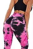 MLLM Leggings Fitness Estiramiento Yoga Pilates,Pantalones de Burbuja de Vestir de Tinta, Pantalones Deportivos de Yoga Fitness-G_M,Mujer Feeling Leggings Deportivas