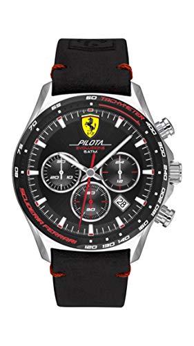 Scuderia Ferrari Reloj Analógico para Hombre de Cuarzo con Correa en Cuero 0830710