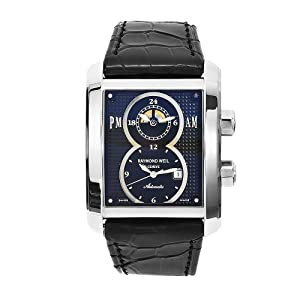 Raymond Weil Men's 4888-STC-20001 Don Giovanni Black Leather Black Dial Watch Reviews and Now and review image