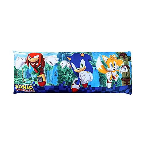 Franco Kids Bedding Super Soft Microfiber Zippered Body Pillow Cover, 20' x 54', Sonic The Hedgehog