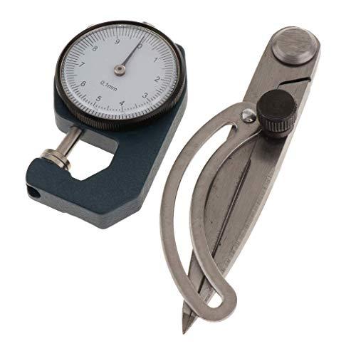 Backbayia Digital Fühlerlehre Dickenmessgerät Dickenmesser für Dicke von Leder, Papier, Stoff, Film, Schwamm, Draht