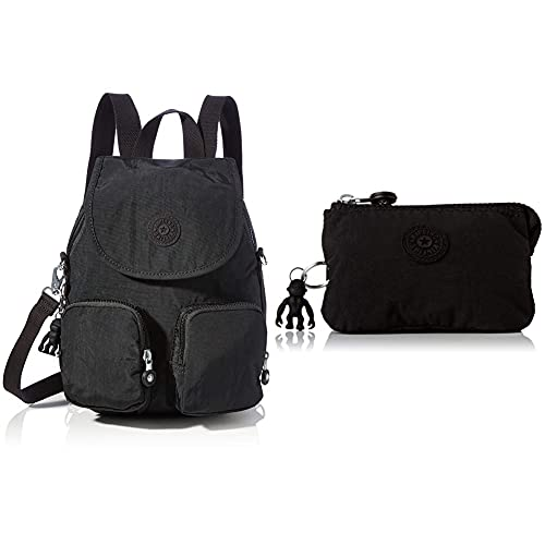 Kipling Firefly UP, BACKPACKS para Mujer, Color negro, 14x22x31 cm (LxWxH) + Creativity S, Pouches/Cases para Mujer, Color Negro, 4x14.5x9.5 cm (LxWxH)