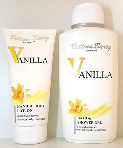 Bettina Barty Vanilla Body Lotion 150 ml & Bath Shower Gel 500 ml, 2 Stück