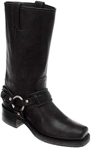Frye Women's Belted Harness Boot Black 6.5 M US