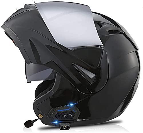Bluetooth Integrado Modular Casco de la Motocicleta ECE 22.05 certificación Seguridad estándar-Cara Completa Racing Casco de la Moto General 4,M