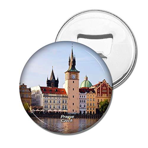 Weekino Tschechische Turm-Kathedralen-Landschaft Prag Bier Flaschenöffner Kühlschrank Magnet Metall Souvenir Reise Gift