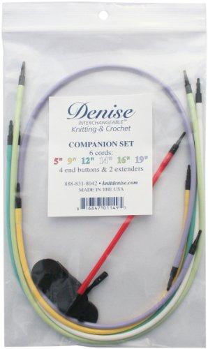 Denise Needles Denise Interchangeable Knit and Crochet Companion Set, Multi Colors
