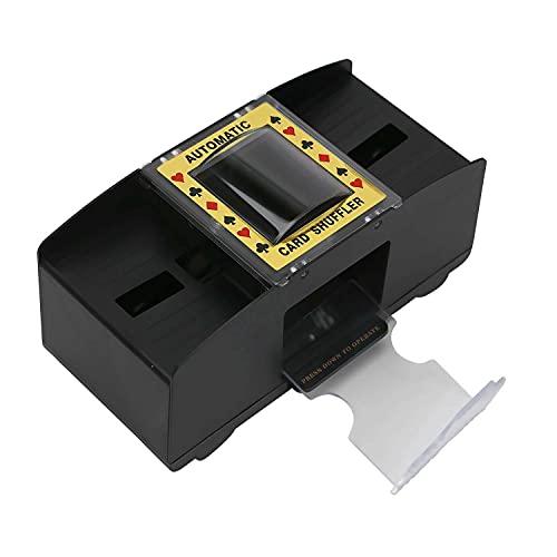 DHOUTDOORS Kartenmischmaschine Elektrische Mischmaschine Batteriebetrieben zum Mischen von Karten Auf Knopfdruck Karten Sortieren Serviceable