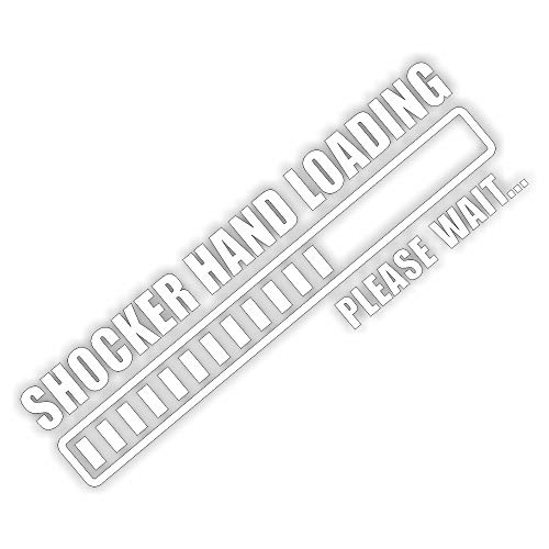 foliezentrum 1x Shocker Hand Loading 18 x 5,5 cm wit sticker Tuning 341 Shocker Auto JDM OEM Dub Decal Sticker Illest Dapper Oldschool Folie