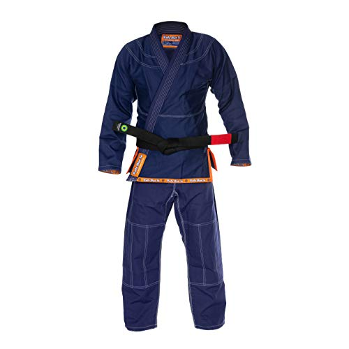 Role Bonito Kimono Azul Oscuro Navy Ultra Ligero para Jiu-Jitsu Brasileño (BJJ) Talla A1