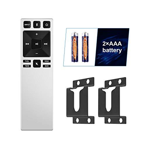 Replacement XRS321 Soundbar Remote Control and Wall Mount Compatible with Vizio Sound Bar SB3820-C6 SB3821-C6 SB2920-C6 SS2521-C6 SS2520-C6 SB3821-D6 SB3820x-C6 (White)