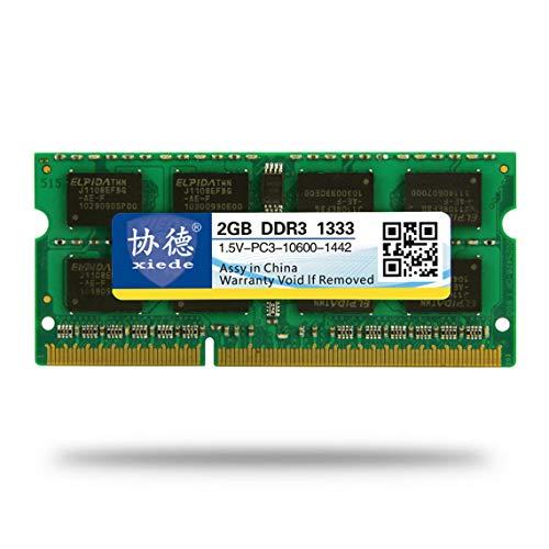 Zinniaya DDR3 1333 2G / 4G / 8G Laptop PC Memoria Módulo de Memoria PC3-10600 Compatible con procesador Intel y procesador AMD