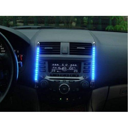 PREMIUM Auto Innenraum Beleuchtung BLAU mit Musik Sensor - LED Leuchtschiene Effektbeleuchtung KFZ Tuning Autotuning