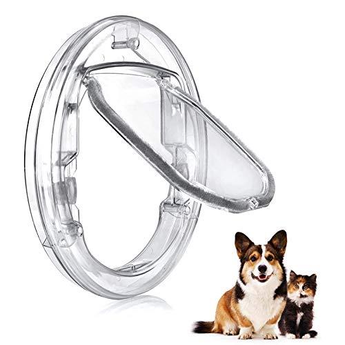 Puertas para Perros Hua Puerta para Mascotas/Solapa para Gatos con Bloqueo De 4 Vías, Puertas Transparentes A Prueba De Viento para Todas Las Mascotas, para Vidrio Corredizo Interior Y Exterio