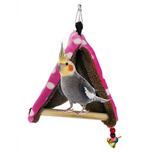 luminiu Nido Invierno,Tienda de Loros Nido de P/ájaro Peque/ña Mascota Universal Tienda de Lona Colgante Hamaca de Algod/ón para Animales Peque/ños Bird Parrot House Accesorios