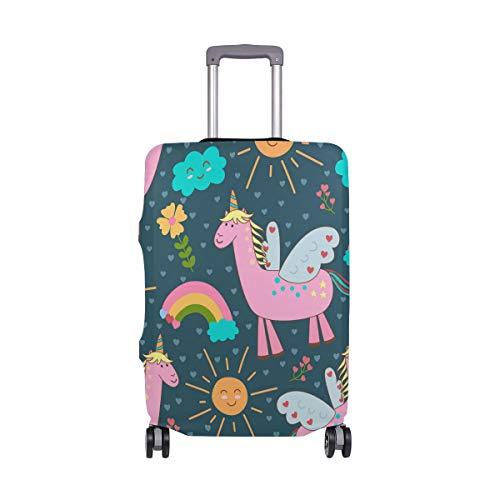 Montoj - Funda para Maleta, diseño de Unicornios Rosas con alas