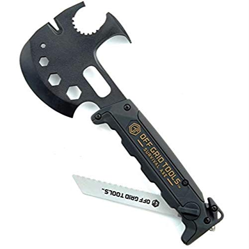 INNOVATION FACTORY Off Grid Tools Survival Axt, All-in-One Überlebens Werkzeug, ABS-Griff, OGTS500