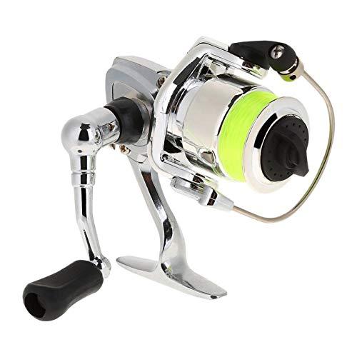 DAUERHAFT Mini Carrete de Pesca de Cuerpo de aleación de Aluminio de...