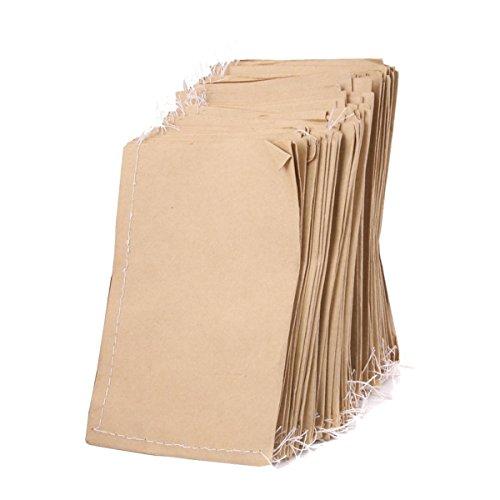 ROSENICE Papiertüten Kraftpapier Beutel für Lebensmittel Samen Aufbewahrung 100 stücke