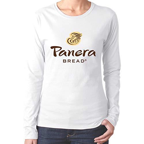 EVE JOHN Cool Panera Bread Logo T-Shirts for Womens Long Sleeve White M