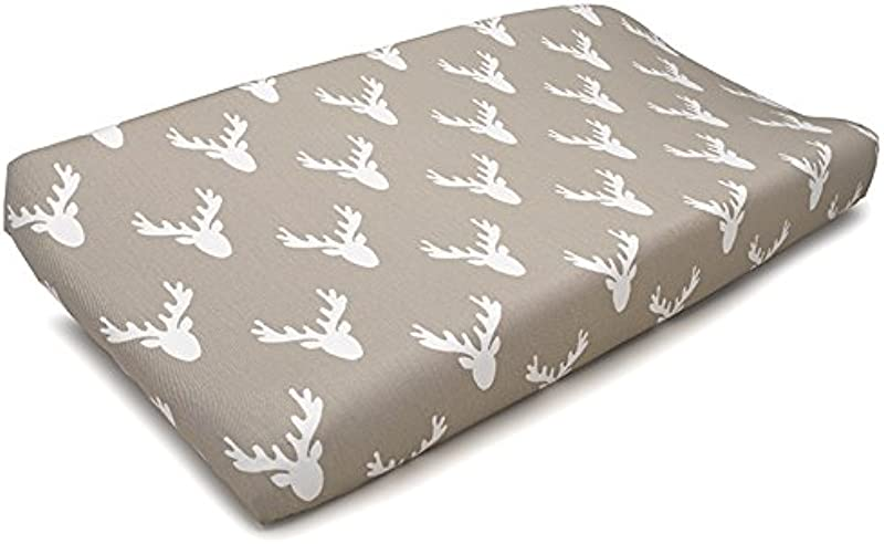 Liz And Roo Buck Woodland Contoured Changing Pad Cover Taupe