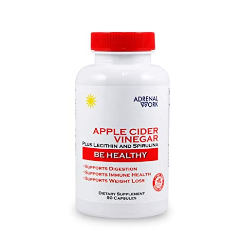 AdrenalWork Premium, Organic Apple Cider Vinegar Capsules - Advanced Formula for Gut Health and Weight Loss - Next Generation ACV, not The Old ACV Pills, Vinegar Tablets, or Liquids.