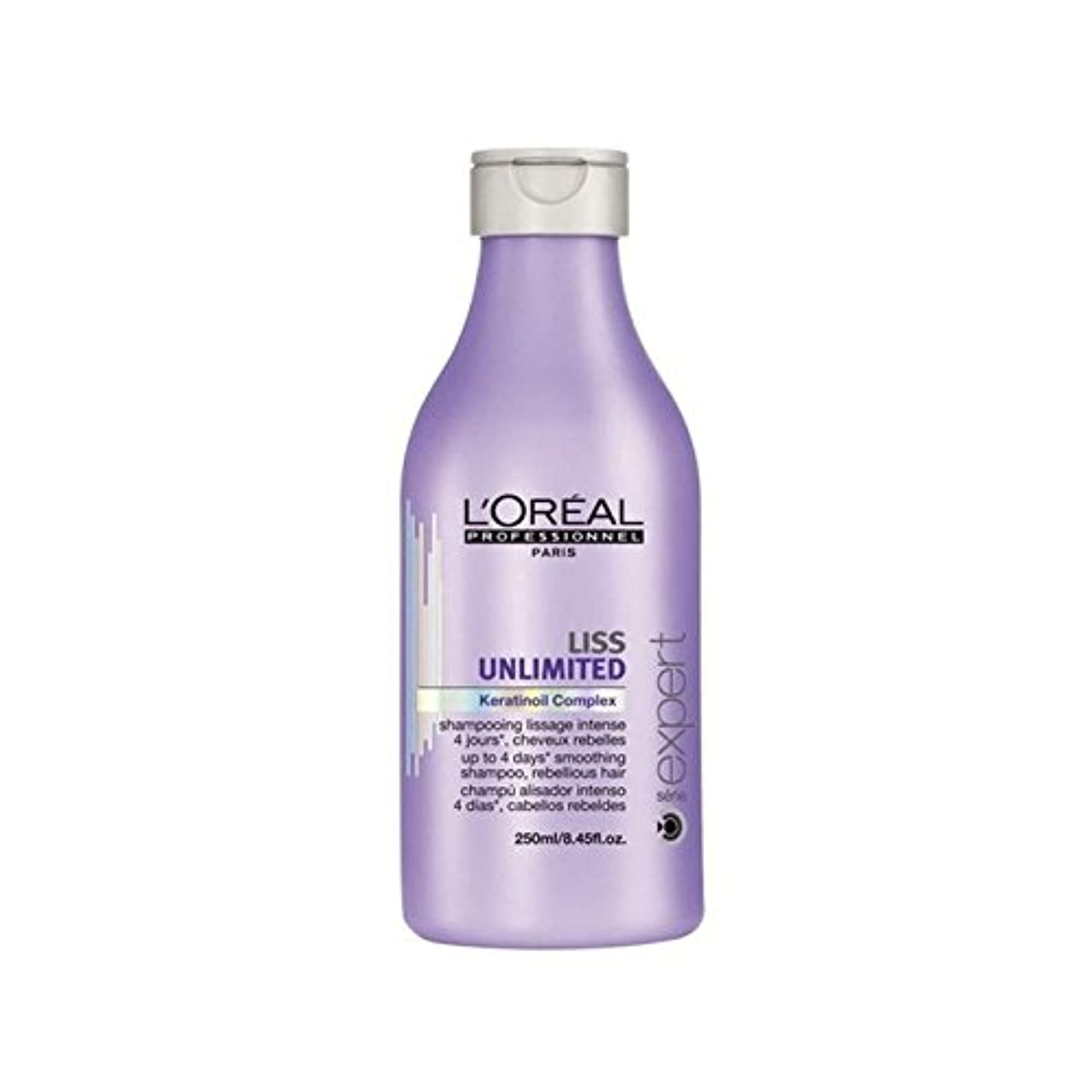 足転倒ボイドL'Oreal Professionnel Serie Expert Liss Unlimited Shampoo (250ml) (Pack of 6) - ロレアルプロフェッショナルセリエ専門家無制限のシャンプー(250ミリリットル) x6 [並行輸入品]
