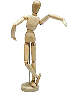 HSOMiD 12'' Artists Wooden Manikin Jointed Mannequin Perfect for Home Decoration/Drawing The Human Figure A
