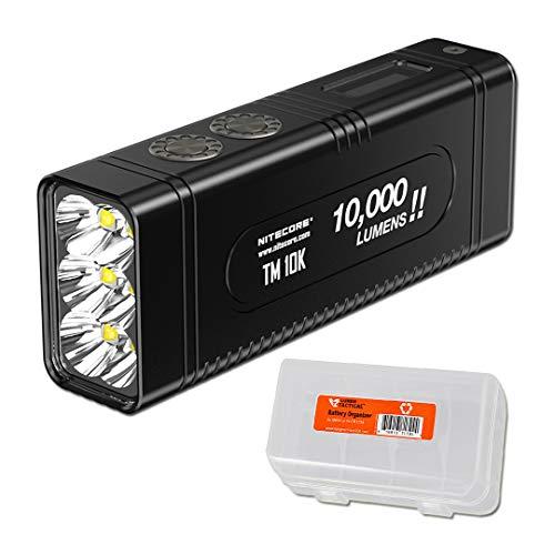 NITECORE TM10K Tiny Monster 10,000 Lumen Burst Rechargeable Flashlight with LumenTac Battery Organizer