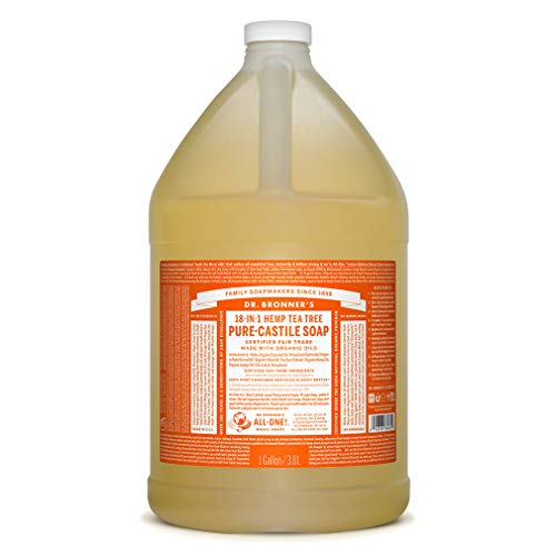 Dr. Bronner's - Pure-Castile Liquid Soap (Tea Tree, 1 Gallon)