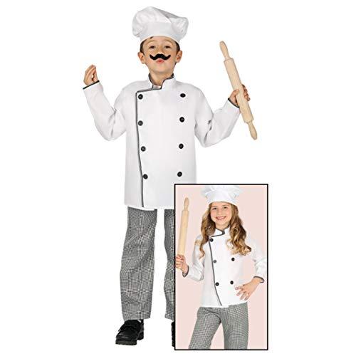 Guirca - Barbie 8158 Costume de cuisine, couleur blanc et noir, 5 à 6 ans,