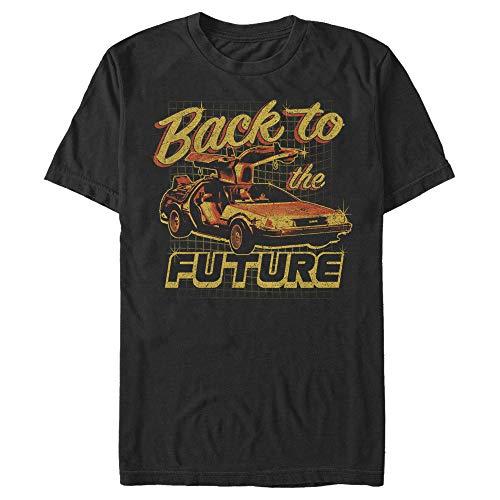 Back To The Future Men's Distressed Vintage Orange Graphic T-shirt