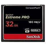 Carte Mémoire CompactFlash SanDisk Extreme Pro 32 Go UDMA7 (SDCFXPS-032G-X46)