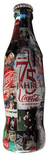 Coca Cola - 75 Jahre in Deutschland - Glasflasche 0,2 l. - MHD 07.2005 abgelaufen - Rarität