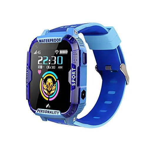 Reloj inteligente para niños con GPS LBS Tracker Sport Watch WIFI Localización SOS Call 1.4 pies Cámara HD Video Call Reloj Regalo JIADUOBAO (Color: Azul)