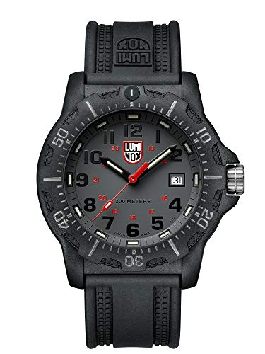 Luminox Navy Seal Watch for Men Grey Display (XL.8882.F/ 8880 Series): 200 Meter Water Resistant + Sapphire Crystal + Constant Night Visibility