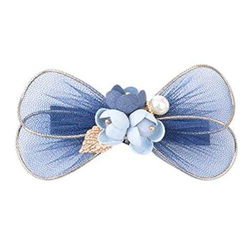 Mesdames Elegant bow-noeud Forme cheveux pinces Accessoires cheveux, bleu