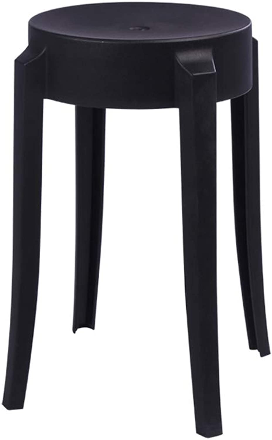 HLJ Europea Simple Plastic Stool Fashion Stool Personality Home High StoolThickening Creative Dining Table Stool