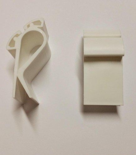 Schilderhalter für Preisschilder in weiss für Plakatkarton, Obst Kiste, 20 Klammern 2,7 x 6 cm Kunststoff