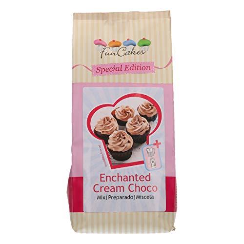 FunCakes Special Edition Mischung für Enchanted Cream Schoko: Leichten und Luftigen Creme mit Schokoladengeschmack, Einfach zu Bereiten, Perfekt für Cupcakes und Torten. Halal, 450 g