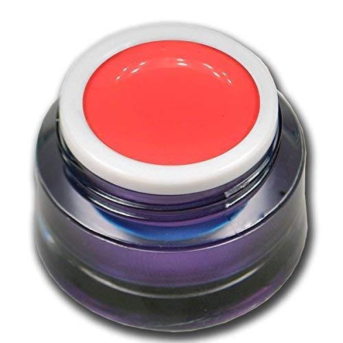 Premium Vernis à ongles gel UV N ° 127 Candy Pop Coral Neon Koralle Orange knallige Couleur 5 ml haut Deck en Colorgel pour ongles design RM Beauty Nails