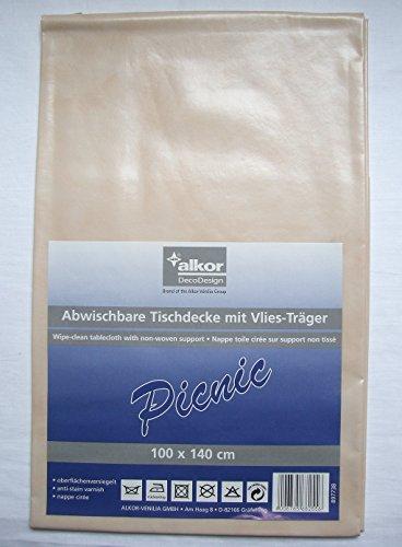 Alkor Tischdecke abwaschbar 100 x 140 cm beige
