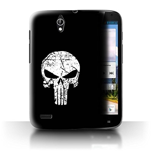 Hülle Für Huawei Ascend G610 Antiheld Comic-Kunst Punisher Inspiriert Design Transparent Ultra Dünn Klar Hart Schutz Handyhülle Case